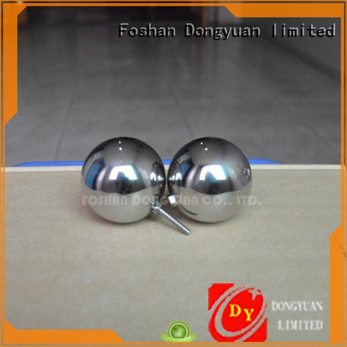 25mm Polished Stainless Steel Hollow Ball with M4 Male Screw