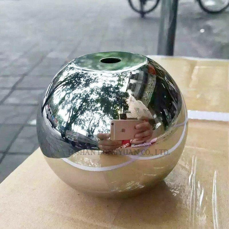 Flat Hole Stainless Steel Sphere