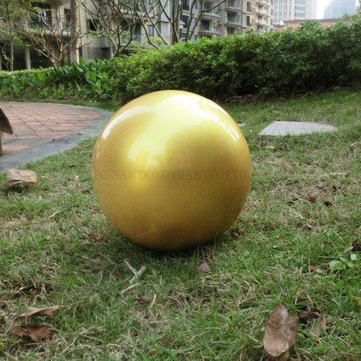 Smooth Painted-Gold Stainless Steel Ball