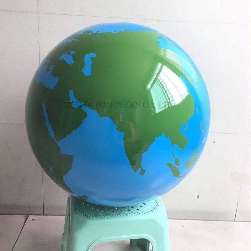 Painted World Map Globe
