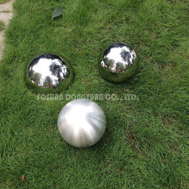 80mm M10 Threaded Brushed Stainless Steel Hollow Ball
