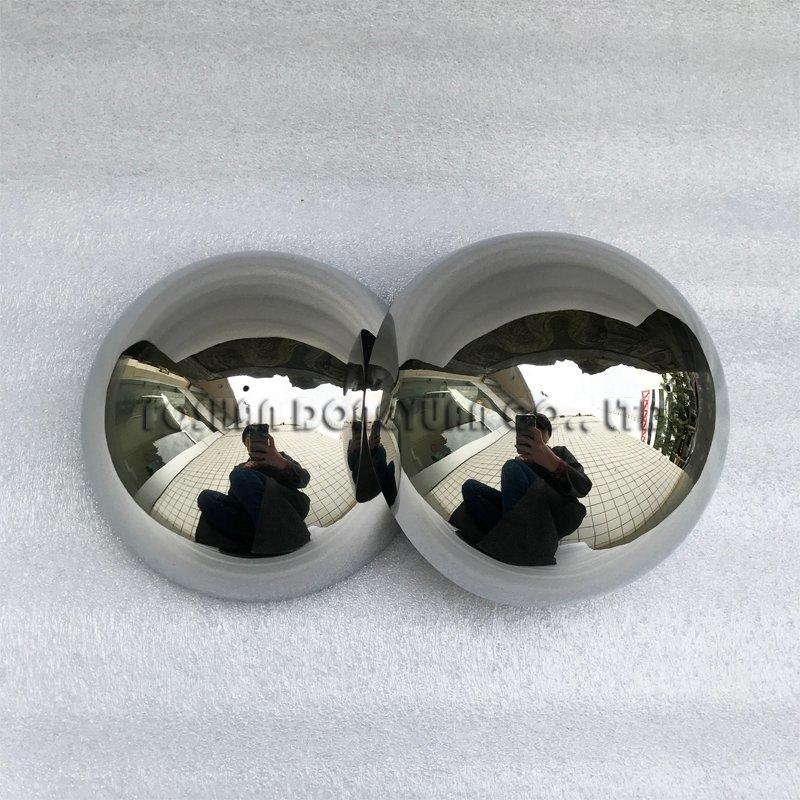 120mm Shiny Surface Stainless Steel Hemispheres with 2mm Hole