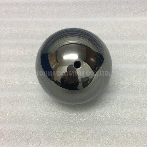3 Inch Black Polished Stainless Steel Hollow Ball with M4 Screw/Thread