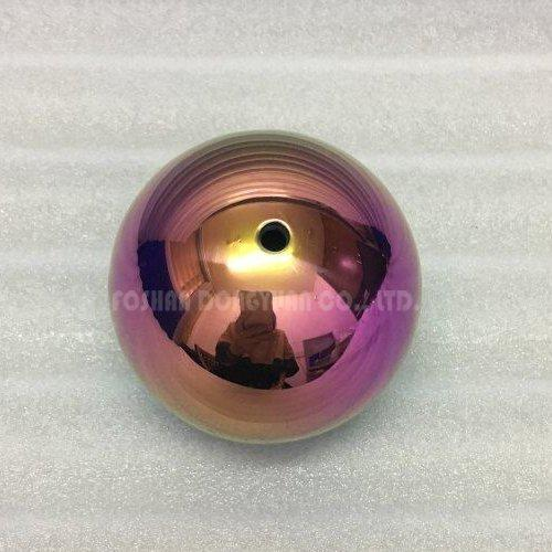 3 Inch Mirror Rainbow Stainless Steel Hollow Ball with M4 Screw/Thread