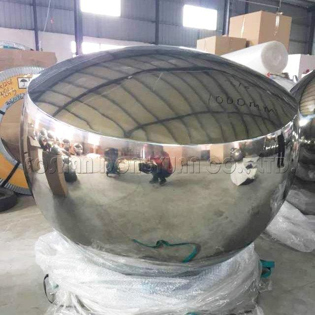 1000mm Large Mirror Finished Convex Stainless Steel Hollow Ball
