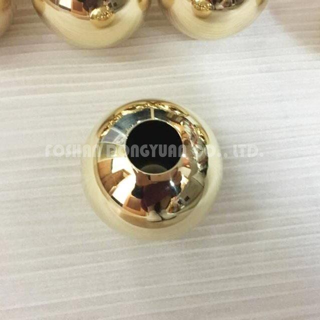 3 Inch Gold Polished Stainless Steel Hollow Ball with M10 Hole