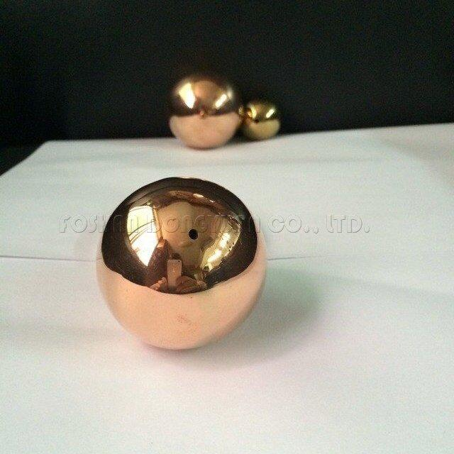 3 Inch Rose Gold Stainless Steel Hollow Ball with M2 Hole