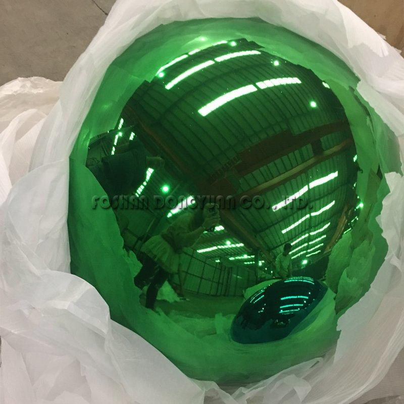 300mm Green Gazing Stainless Steel Color Sphere