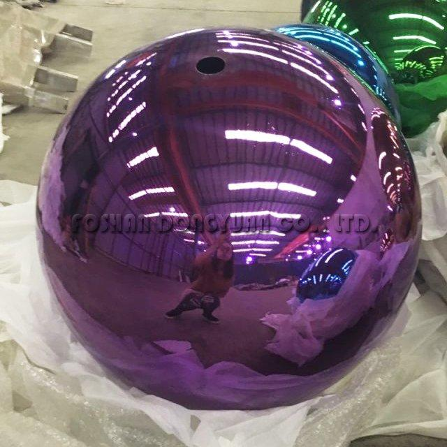 300mm Purple Glossy Stainless Steel Color Sphere