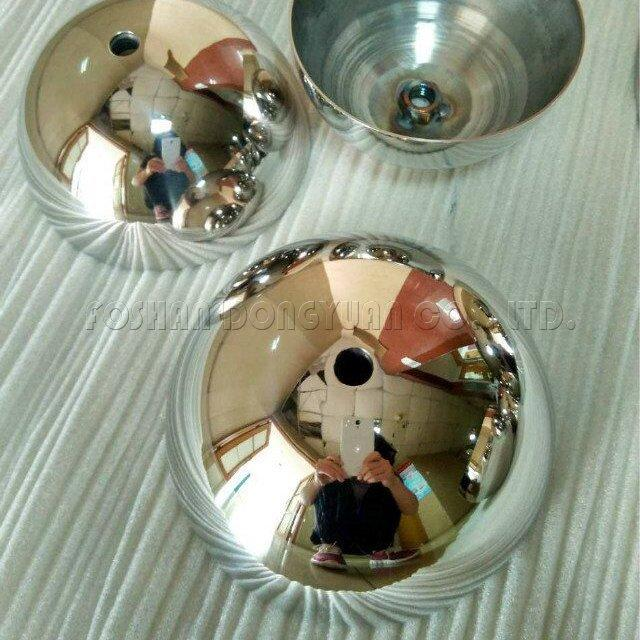 7 Inch Polished Stainless Steel Hemispheres with M8 Thread/Screw