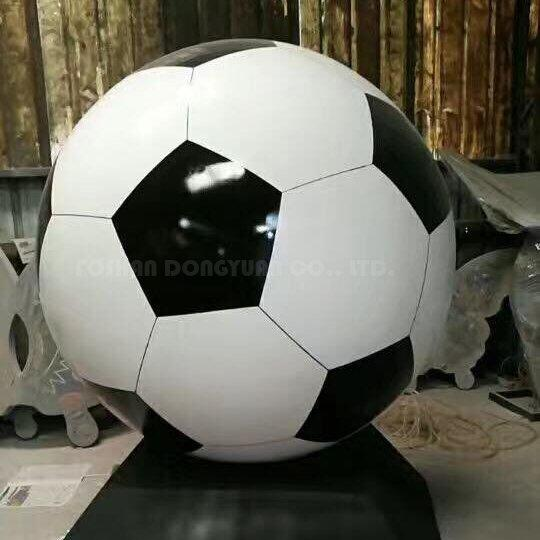 Large Decorative Painted Stainless Steel Hollow Football