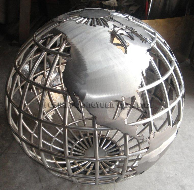 500mm Decorative Stainless Steel World Map Globe