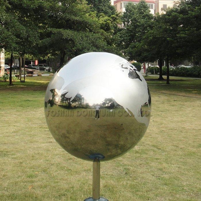 Outdoor Decorative Sandblasted Polished Stainless Steel Ball