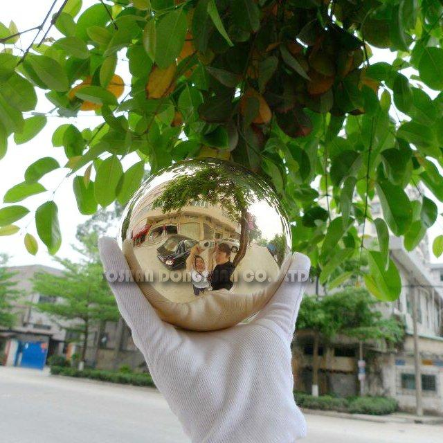 120mm Polished Hollow Brass Ball