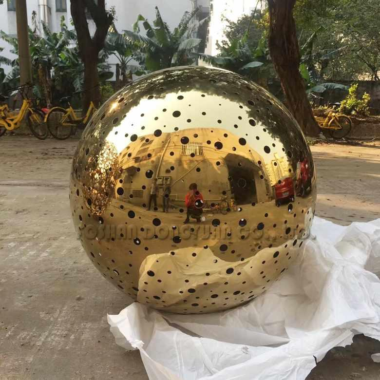 800mm Laser Cut Golden Stainless Steel Ball