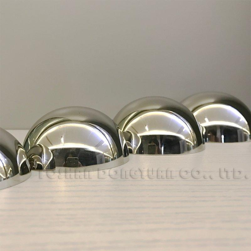 76mm/3 Inch Mirror Polished Stainless Steel Hemispheres