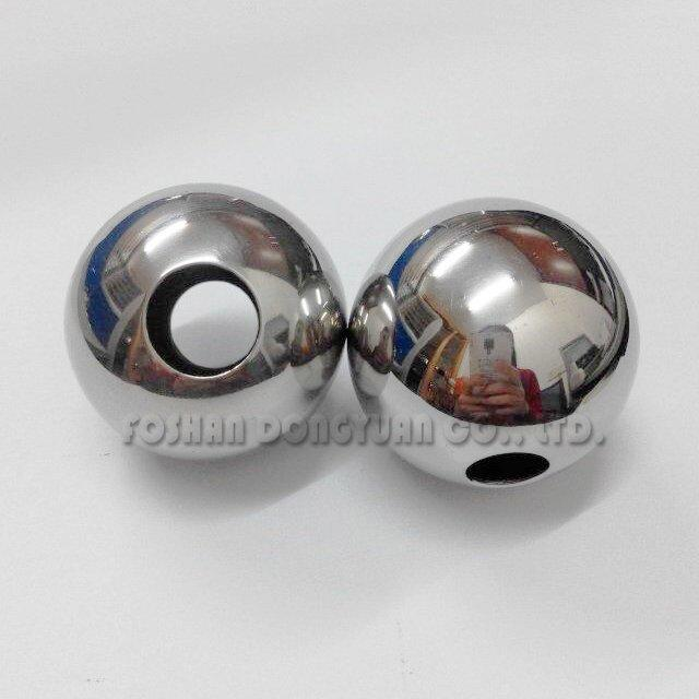 30mm Polished Stainless Steel Hollow Ball with Tap Holes