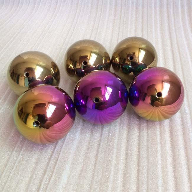 38mm Polished Rainbow Color Balls with Tap Hole