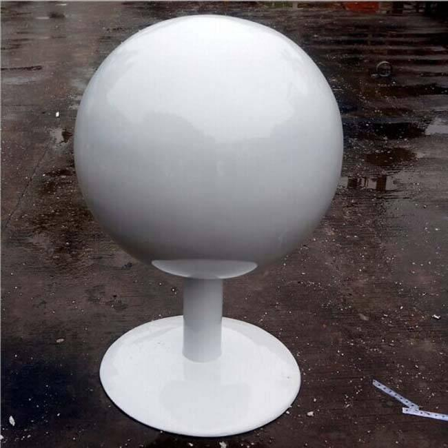 White Stainless Steel Ball with Base