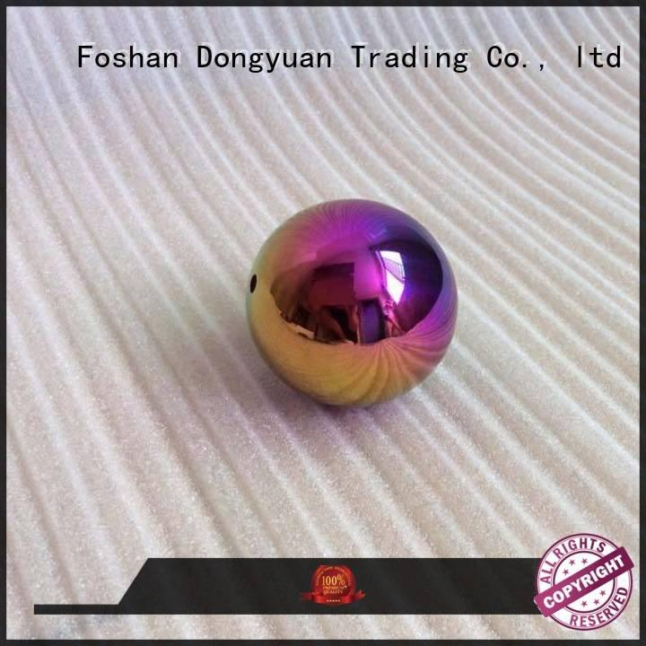 Quality 2 inch stainless steel balls DONGYUAN Brand rainbow big metal ball