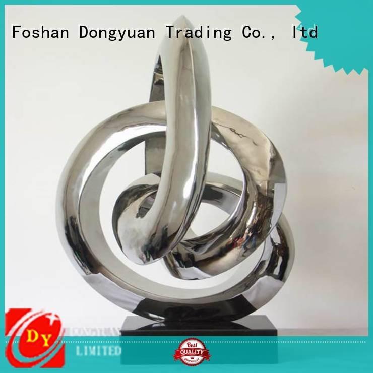 DONGYUAN Brand stainless flower crane metal tree sculpture