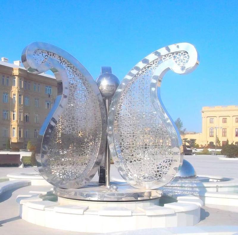 Metal Butterfly Sculpture