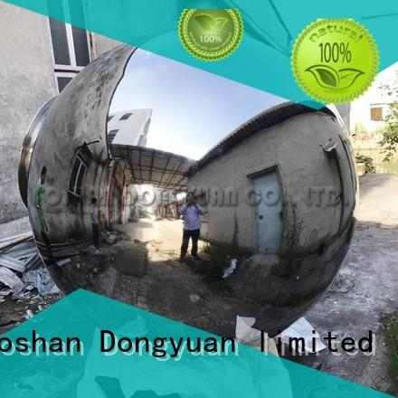 steel gazing balls screw polished hollow steel balls fountain DONGYUAN Brand