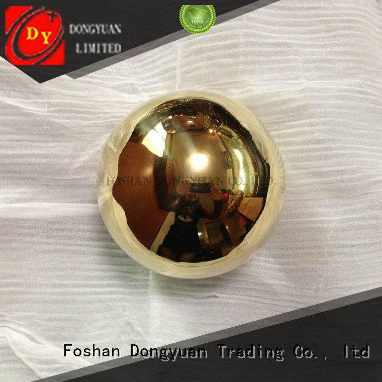 holes small brass beads solid ball DONGYUAN