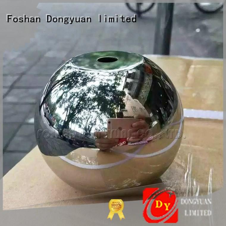 DONGYUAN finished 6MM to 300MM metal hollow balls manufacturers for square
