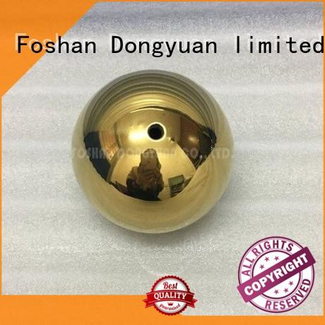 3 Inch Gold Plated Mirror Stainless Steel Hollow Ball with M4 Screw/Thread