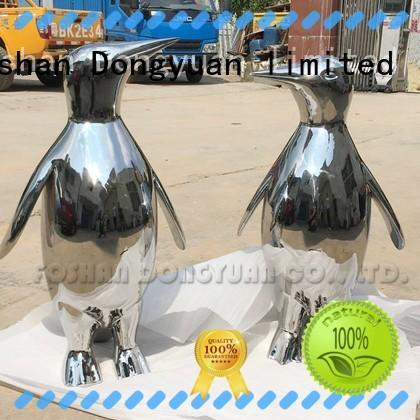 Mirror Polished Penguin Sculptures of Stainless Steel
