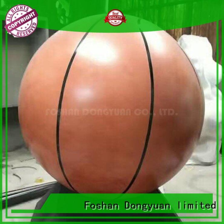 5 Feet Large Decorative Painted Stainless Steel Hollow Basketball