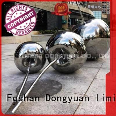 Mirror Polished Stainless Steel Cheery Sculpture