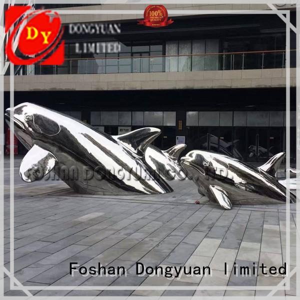 DONGYUAN gadern metal giraffe garden sculpture suppliers for street
