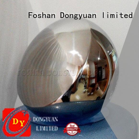 DONGYUAN finished 6MM to 300MM metal hollow balls customized for plaza