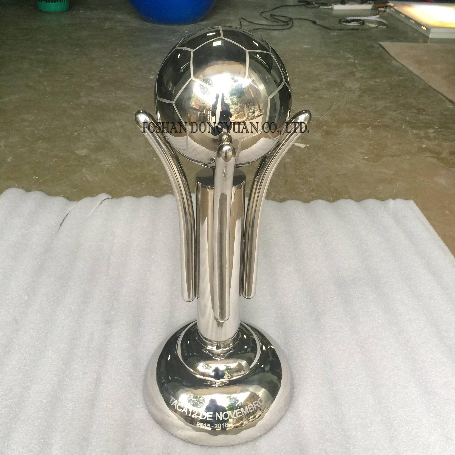 Stainless Steel Custom Designer Soccer Trophy