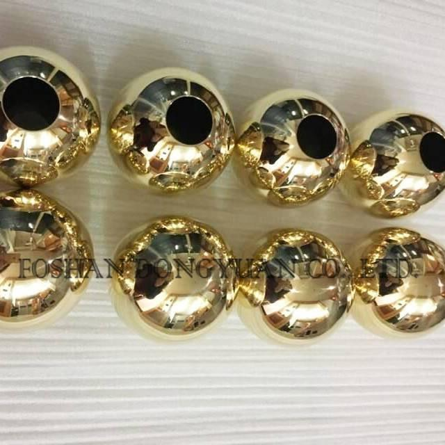 Drilled Holes Golden Balls
