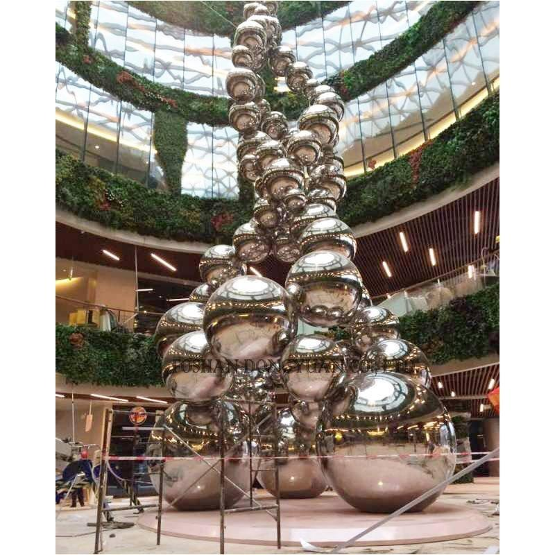 Large Stainless Steel Ball Sculpture