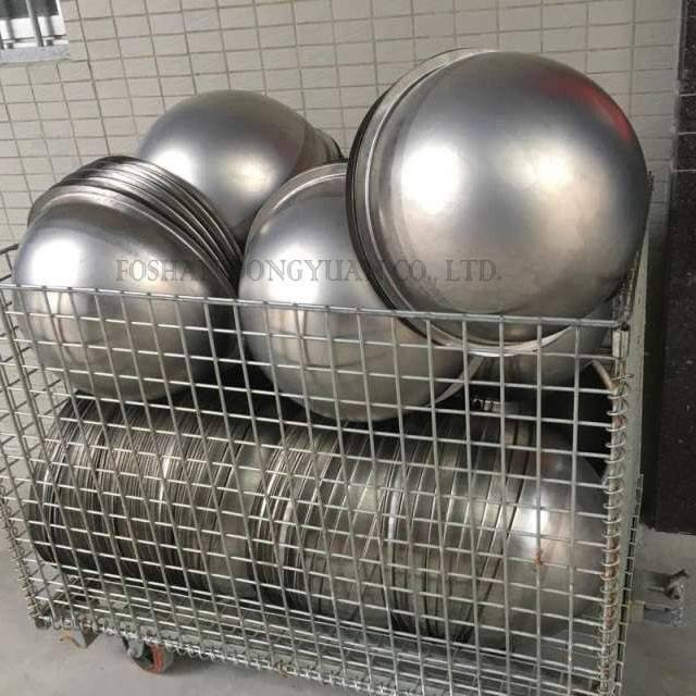 Raw Stainless Steel Half Ball