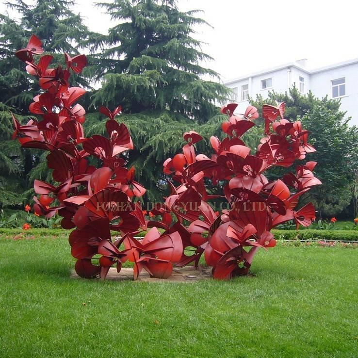 Metal Red Flower Craft