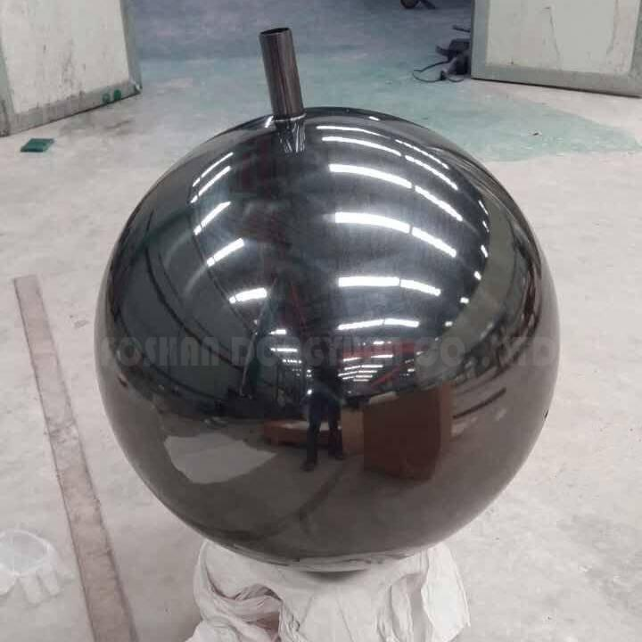 70CM Black Painted Stainless Steel Ball