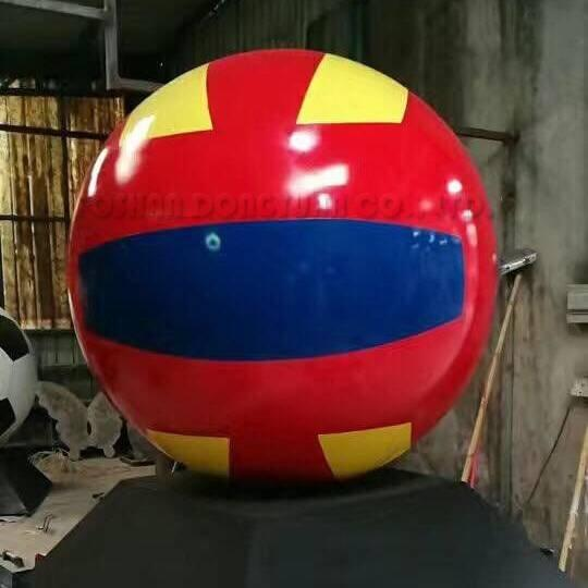 150CM/5 Feet Stainless Steel Volleyball Painted Sculpture