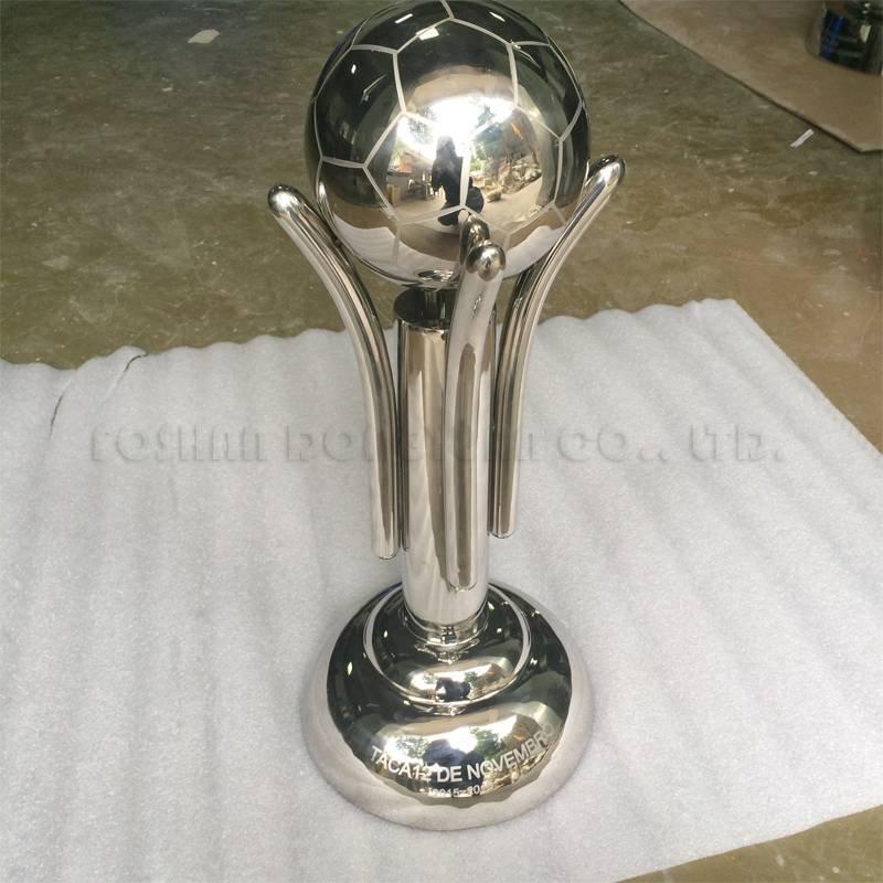 Stainless Steel Custom Designer Soccer Trophy