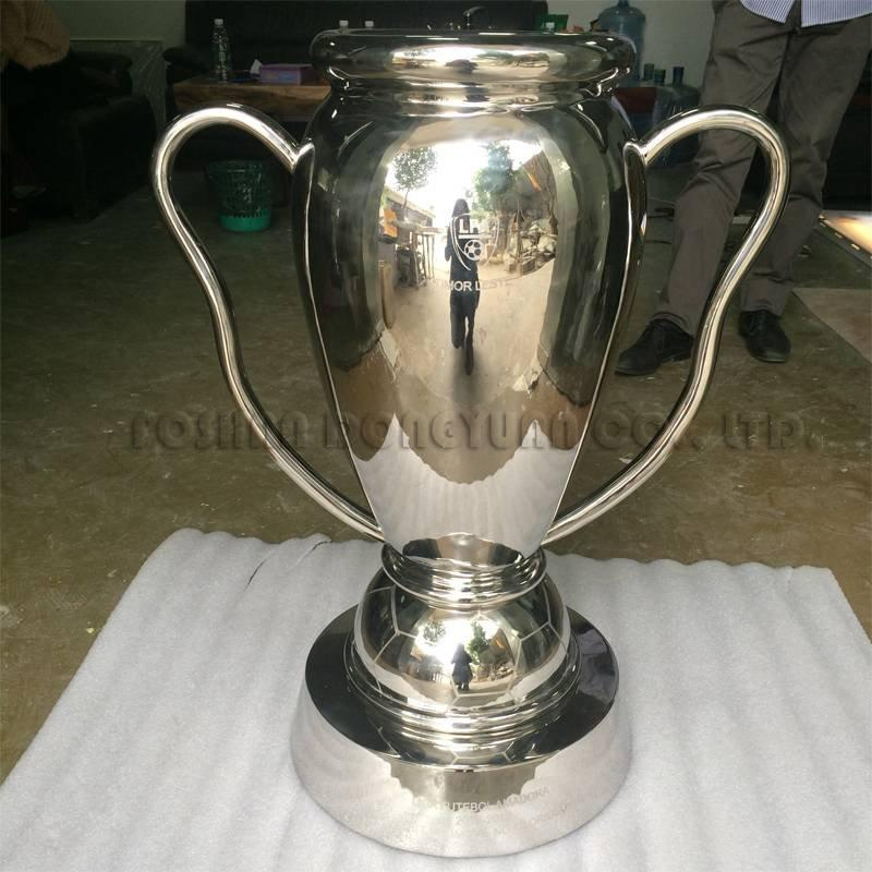 Mirror Polished Stainless Steel Champion Trophy