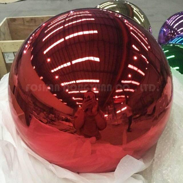 400mm Red Polished Stainless Steel Hollow Ball