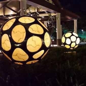 Stainless Steel & Acrylic Decoration Sphere with Light