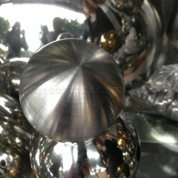 42mm Matt Brushed Stainless Steel Hollow Sphere