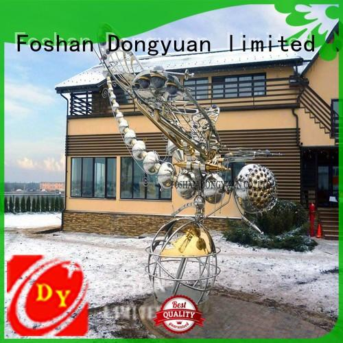 DONGYUAN large metal lawn sculptures with good price for plaza