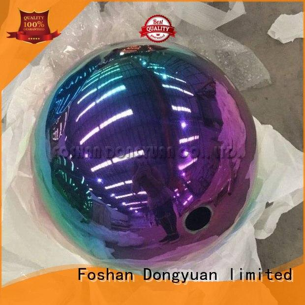 200mm Mirror Stainless Steel Rainbow Color Sphere