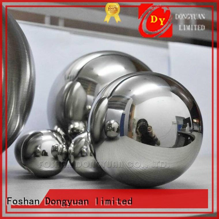 outdoor Custom hole hollow steel balls finished DONGYUAN